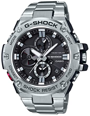 4ea3d86ab42f Amazon.com: CASIO G-SHOCK G-STEEL GST-B100D-1AJF MENS JAPAN IMPORT: Watches