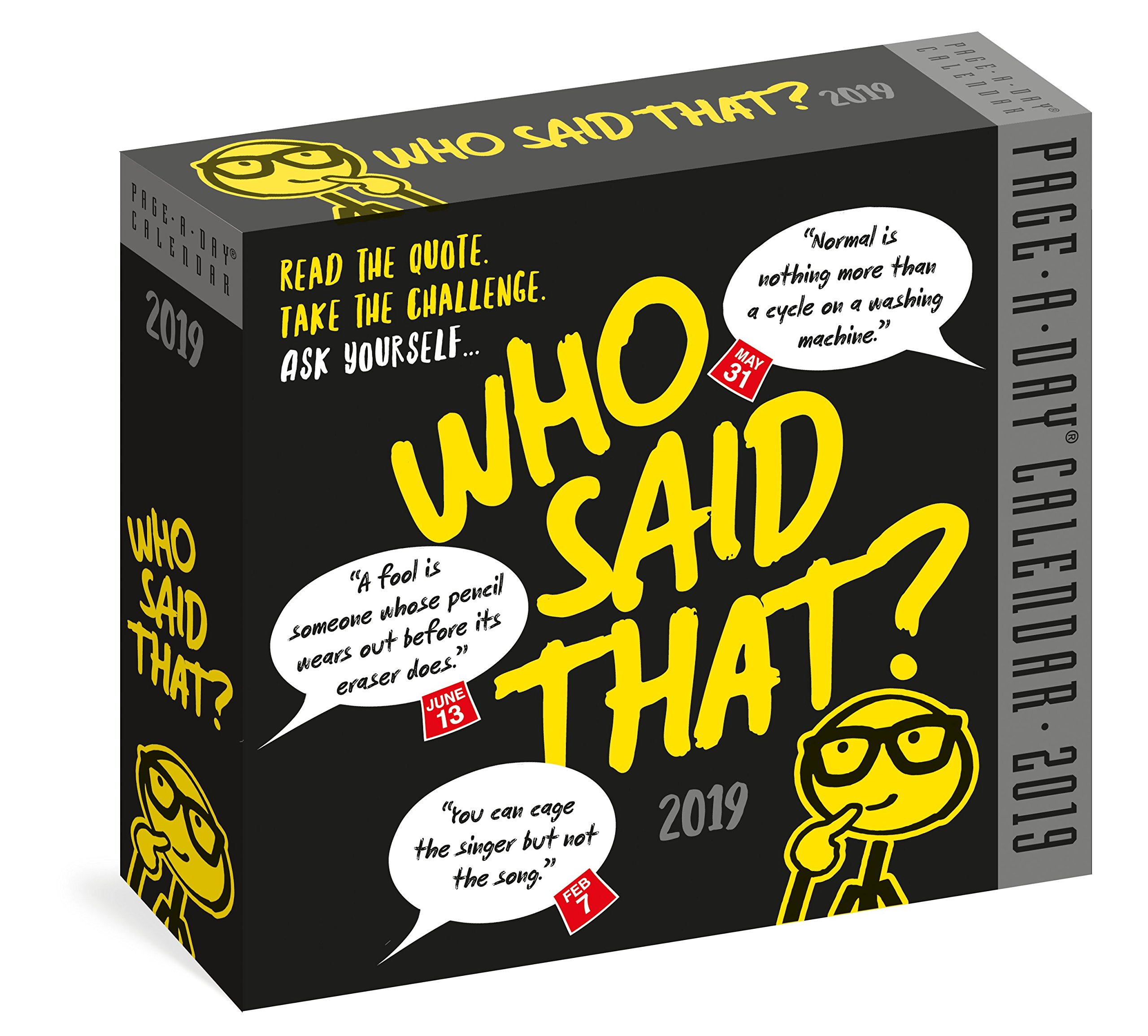 Who Said That? Page-A-Day Calendar 2019