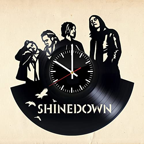 2f9e51981 SHINEDOWN Vinyl Record Wall Clock - Get unique wall decor - Gift ideas for  boys and girls – Unique Art Design - Leave us a feedback and win your custom  ...