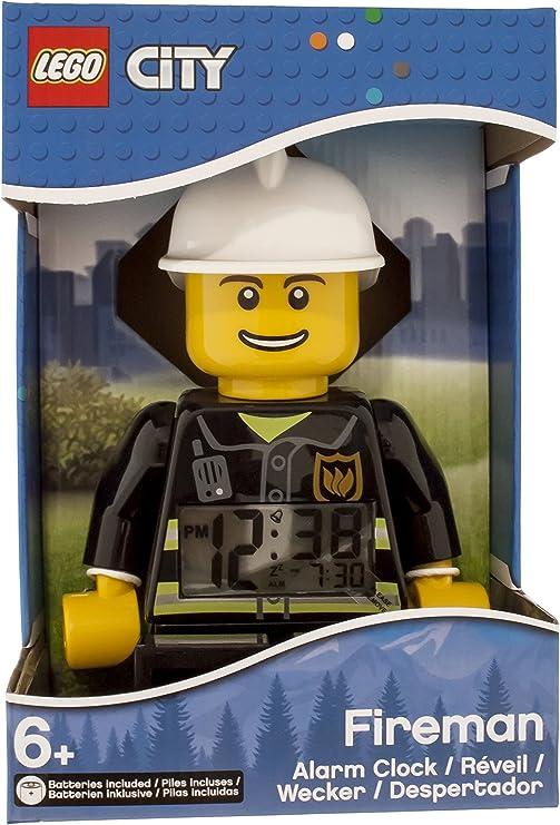 Despertador con luz infantil con figurita de bombero de LEGO City ...