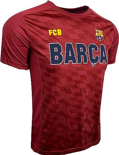 Amazon Com Hky Sports Barcelona Maroon T Shirt Kids Sizes F C Barcelona Shirt Clothing