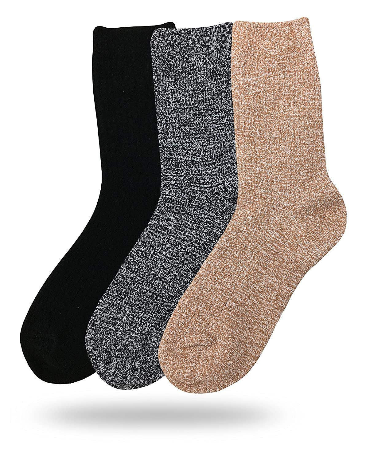 3 Pack Assorted C Eedor Womens Winter Soft Warm Fuzzy Slipper Home Socks Casual