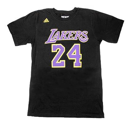Kobe Bryant - Camiseta negra Adidas de Los Angeles Lakers de la NBA para hombre,