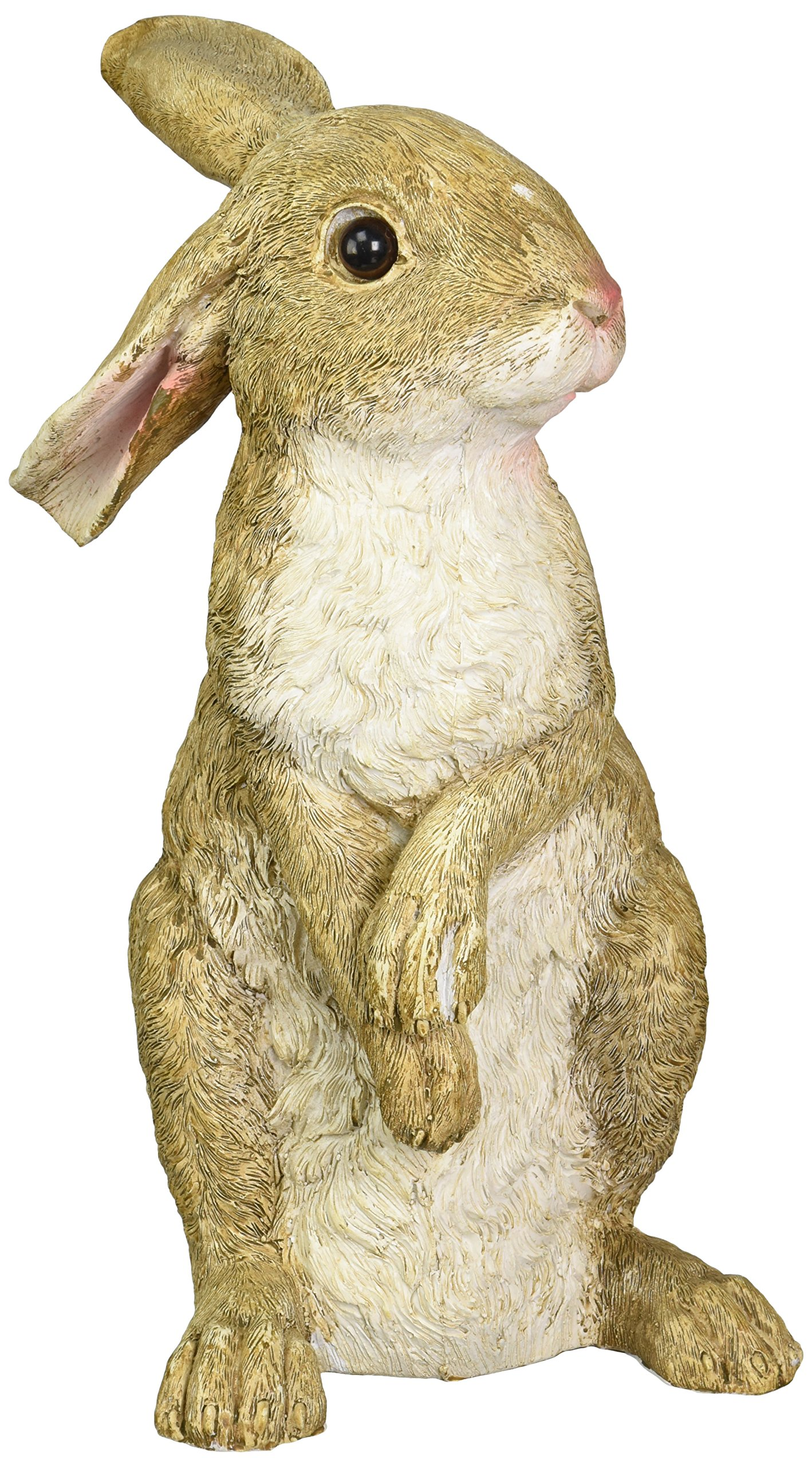 Design Toscano Hopper the Bunny Standing Rabbit Outdoor Garden Statue, 11 Inch, Polyresin