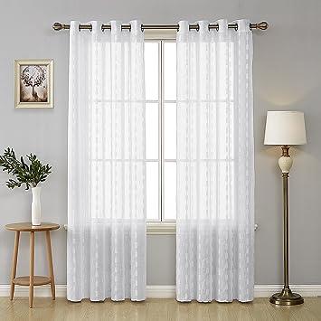 Cortinas Visillos Para Dormitorios.Deconovo Cortinas Visillos Para Ventana Cortina Transparente Con