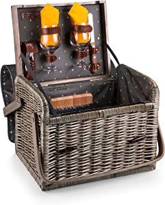 Picnic Time Kabrio Picnic Basket with Wine and Cheese Service for Two