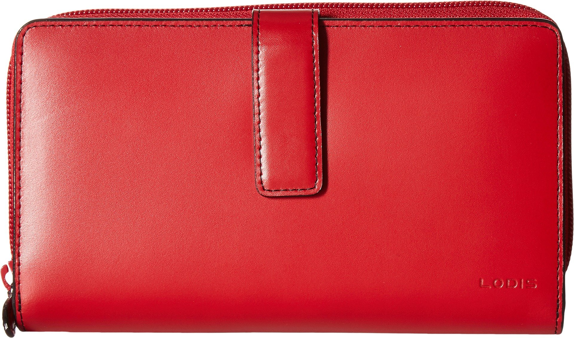Lodis Audrey Deluxe RFID Checkbook Clutch (New Red) by Lodis