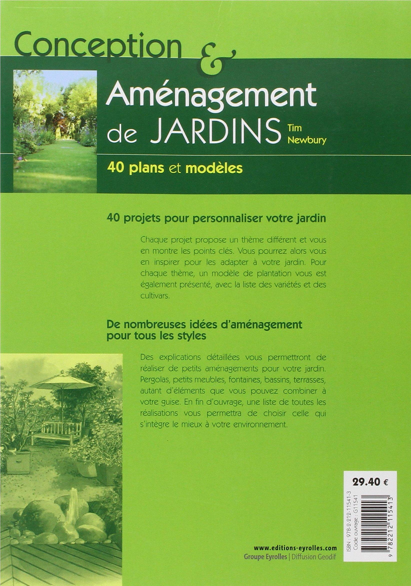 Amazon Conception et aménagement de jardins 40 plans et