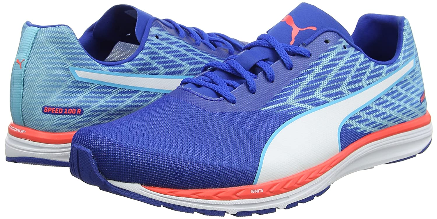 a0b1fad06fe Puma Men s Speed 100 R Ignite Blue Running Shoes-11 UK India (46 EU)  (18852607)  Buy Online at Low Prices in India - Amazon.in