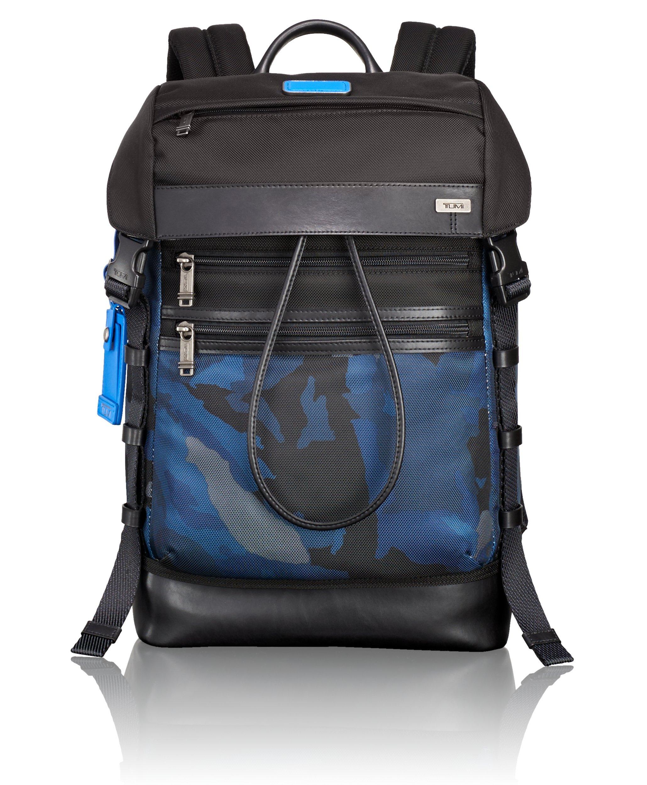 Tumi Alpha Bravo Kinser Flap Backpack, Blue Camo, One Size