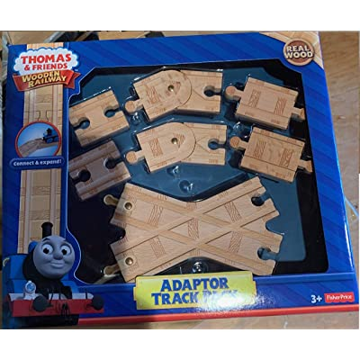 Thomas Wooden Adapter Track Pack Set Train Adaptor Track Pack: Toys & Games