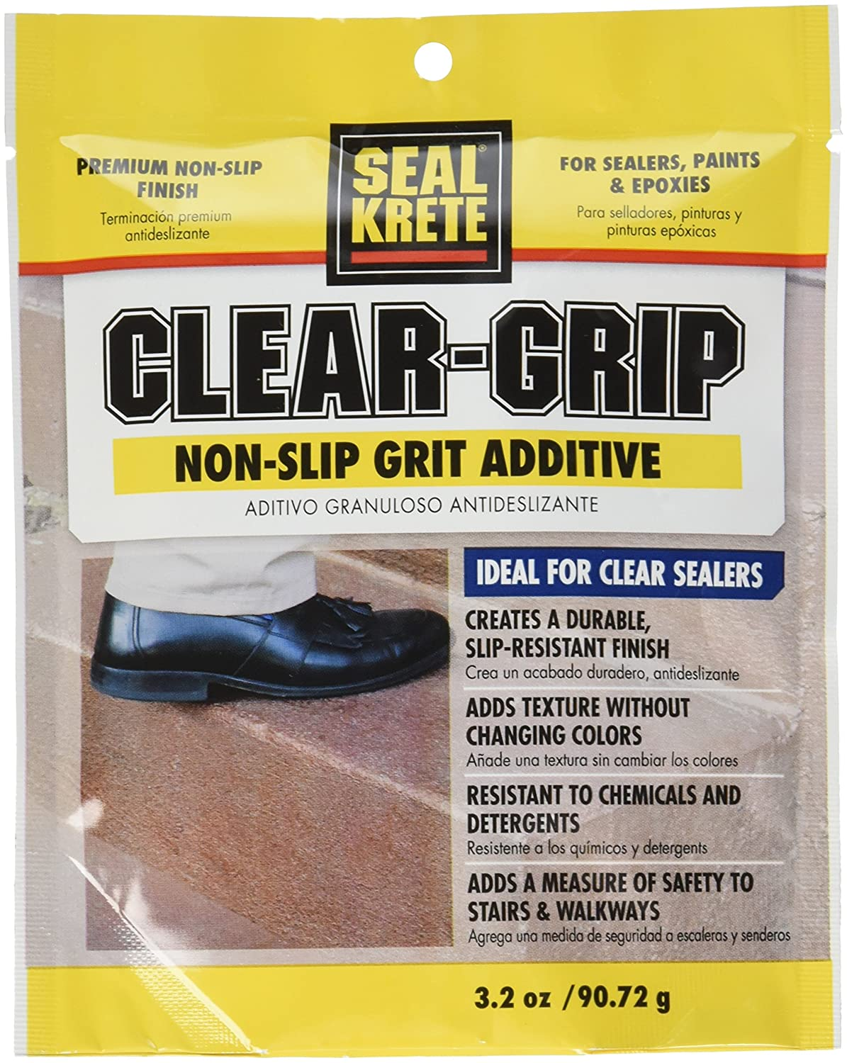 Non slip paint for stairs - Amazon Com Seal Krete 40202 Clear Grip Non Skid Grip Additive For Sealers Paints Epoxies Home Improvement