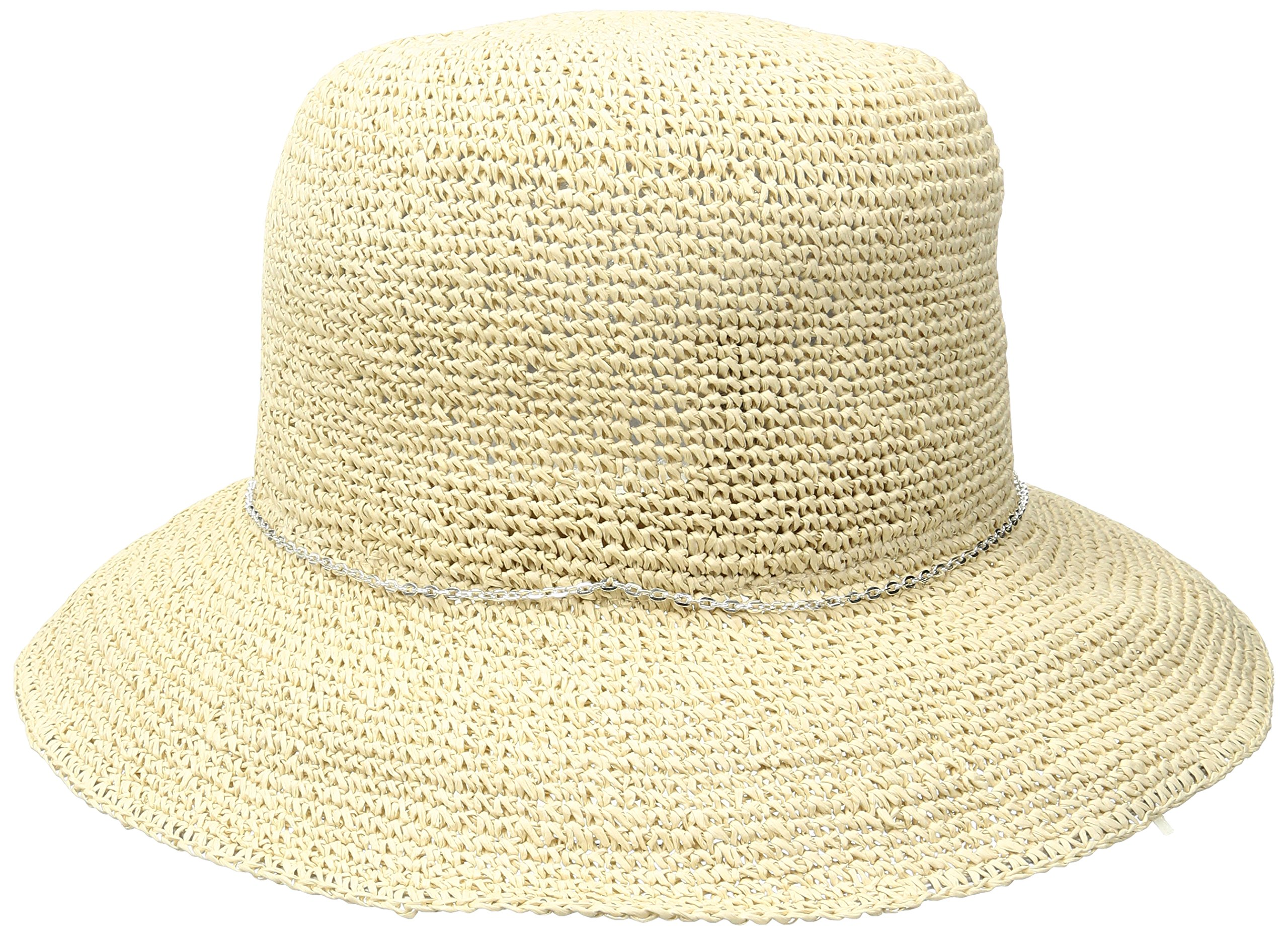 Soia & Kyo Women's Dorothea Wide Brim Crochet Hat with Chain Trim, Tan, One Size by Soia & Kyo (Image #2)