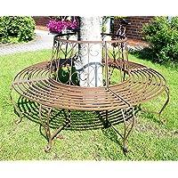 DanDiBo Banc Circulaire en métal Banc 120749 Banc de pourtour d'arbre Banquette Banc de Jardin D-160cm H-84cm