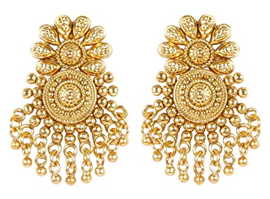 in kirat gold multi moda large earrings young indian loading by ruby operandi