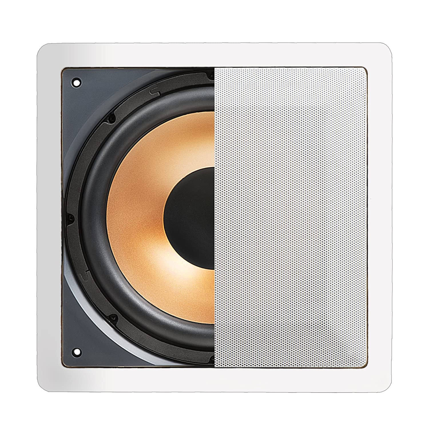 OSD Audio IWS10 Pro Series Cinema In-Wall Passive Subwoofer, White (White)