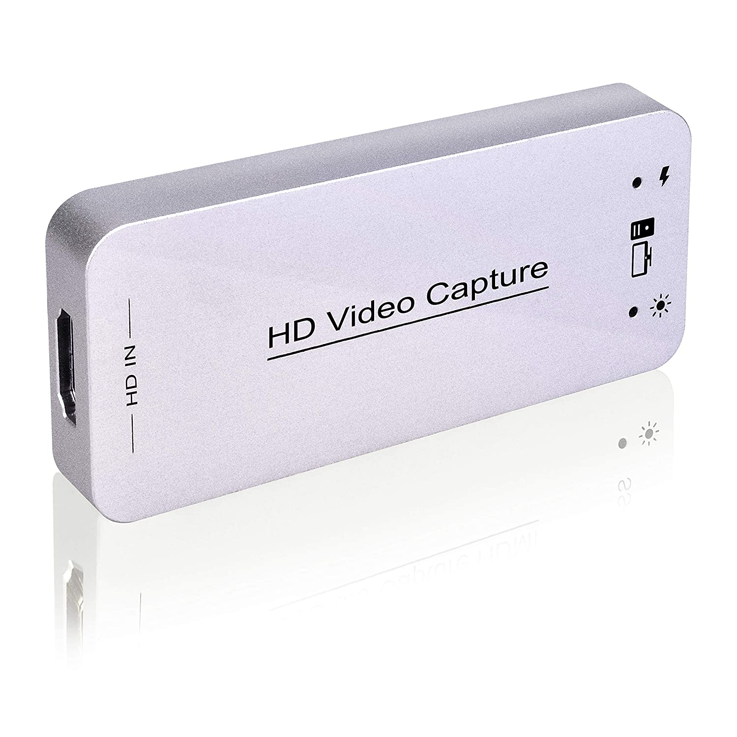 USB Capture HDMI Video Card, Broadcast Live Stream and Record, HDMI to USB Dongle Full HD 1080P Live Streaming Video Game Grabber Converter