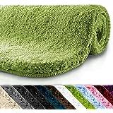 Badematte   kuscheliger Hochflor   rutschfester Badvorleger   viele Größen   zum Set kombinierbar   Öko-Tex 100 zertifiziert   50x80 cm   Apple Green (grün)