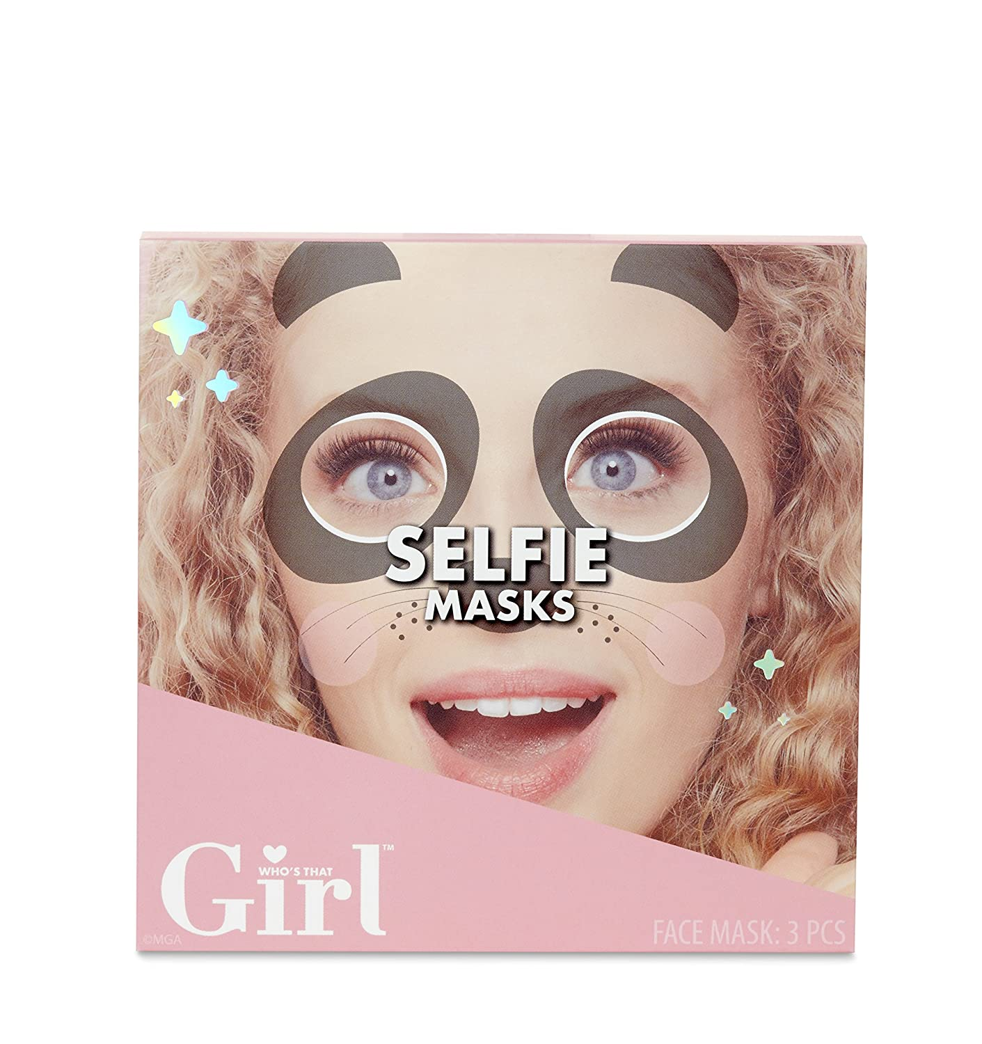Who's That Girl Animal-Themed Designs Selfie Masks, Multicolor