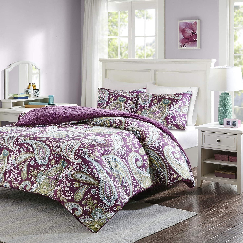 Intelligent Design Melissa Reversible Comforter Mini Set Navy Twin ID10-1105