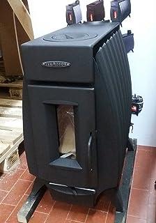 Estufa a leña battery Fire 10 KW Antracita