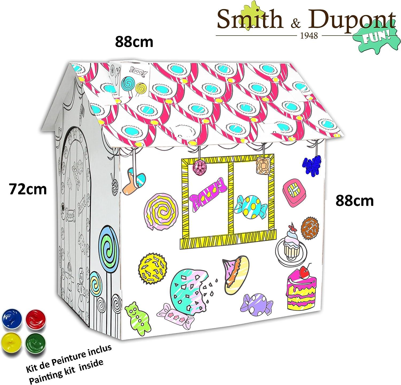 Pinta Tu Casita de Cartón Con Kit De Pintura Dentro - Smith&Dupont ...