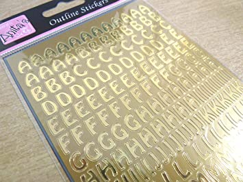 Sparkly Glitter Silver Sticky Adhesive Letters Alphabet Labels Stickers WD-50
