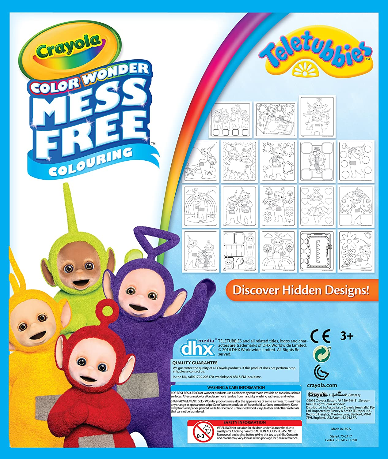 Crayola 75–2417.0054 Teletubbies Farbe Wonder Bumper Pack: Amazon.de ...