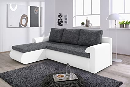 Marvelous Solidfurnituretj Corner Sofa Bed Santi In Dark Grey White Pdpeps Interior Chair Design Pdpepsorg