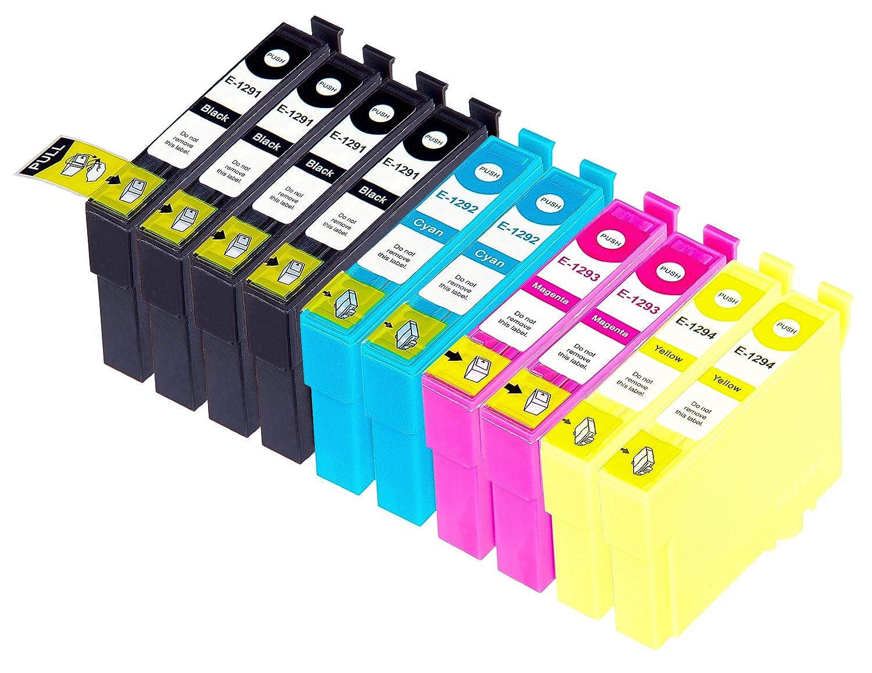 10 Multipack de alta capacidad Epson T1295 Cartuchos Compatibles 4 ...