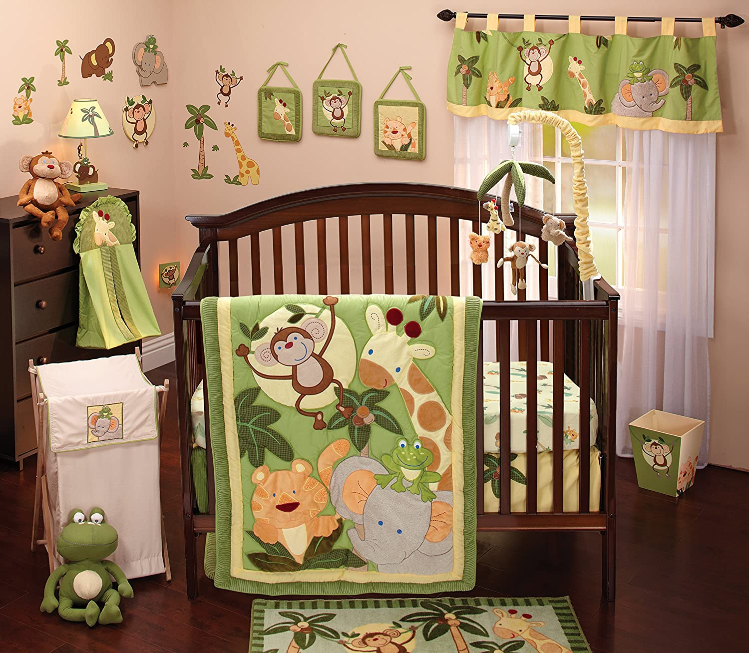 Design Baby Bed Set amazon com nojo jungle babies 8 piece bedding set crib sets baby
