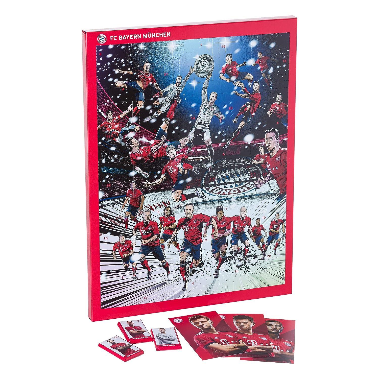 FC Bayern Mü nchen XXL Adventskalender gefü llt mit Autogrammkarten und 25 mal Vollmilch-Schokoladen Tä felchen FC Bayern München