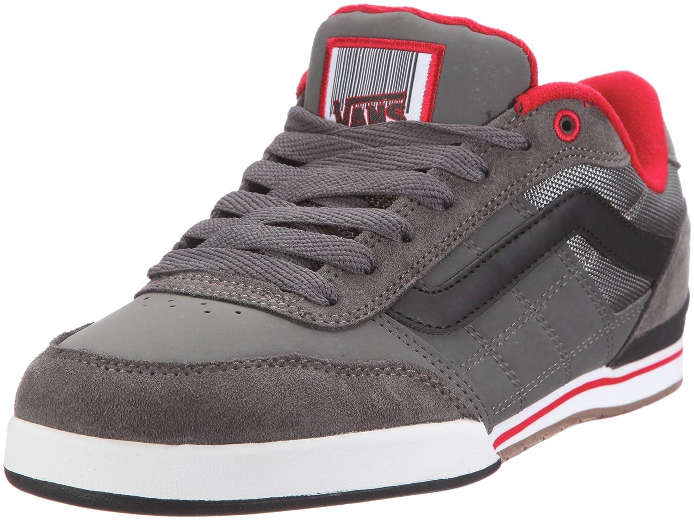 682d3f2aaa Vans Wylie pewter black red Trainers Mens Gray Grau (pewter black ...