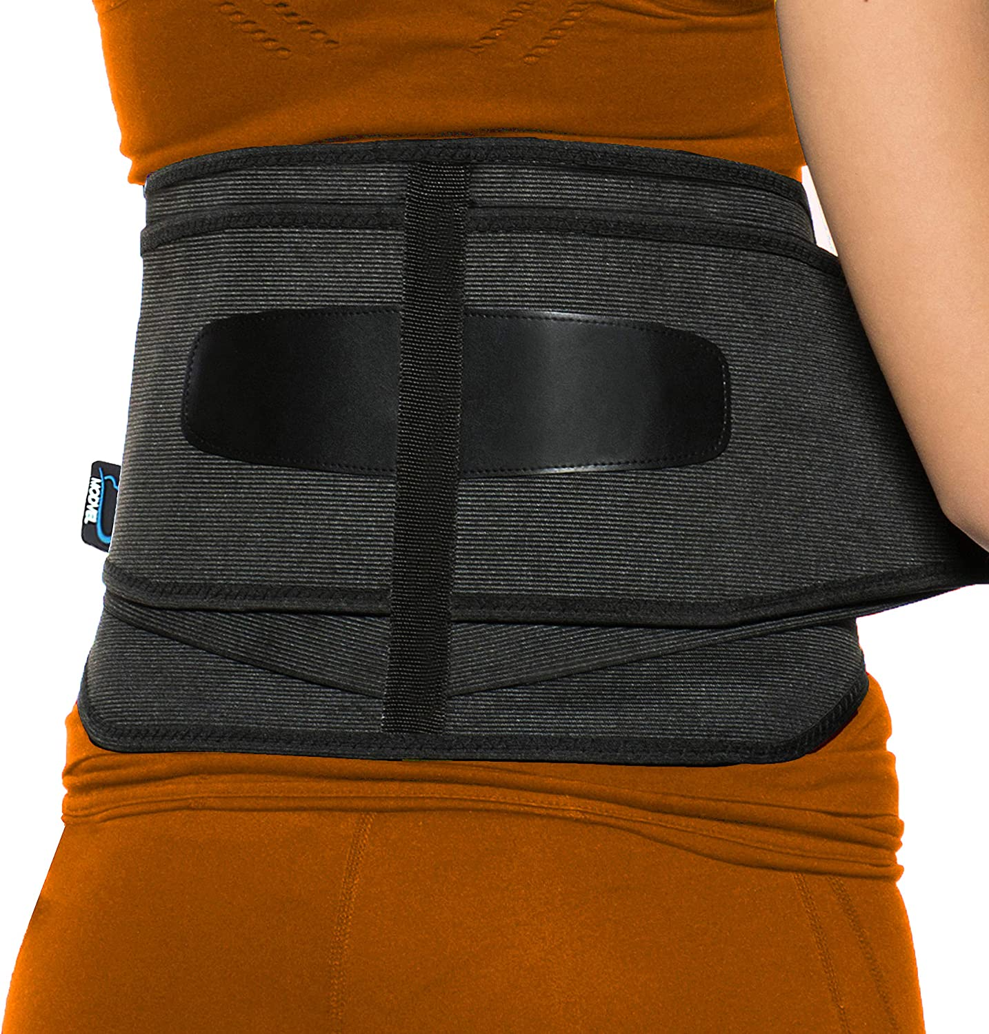 Modvel Lower Back Lumbar Support Brace for Men & Women | FDA Registered | Breathable Fabric with Lumbar Pad | Relieving Back Pain | Great for Employees at Work