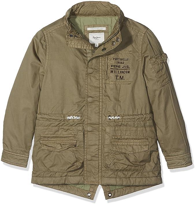Pepe Jeans Neil JR PB400567, Abrigo para Niños, Verde (Army 716), 6 años: Amazon.es: Ropa y accesorios