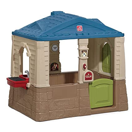 3b5428cb6af7e Amazon.com  Step2 Happy Home Cottage   Grill Kids Playhouse