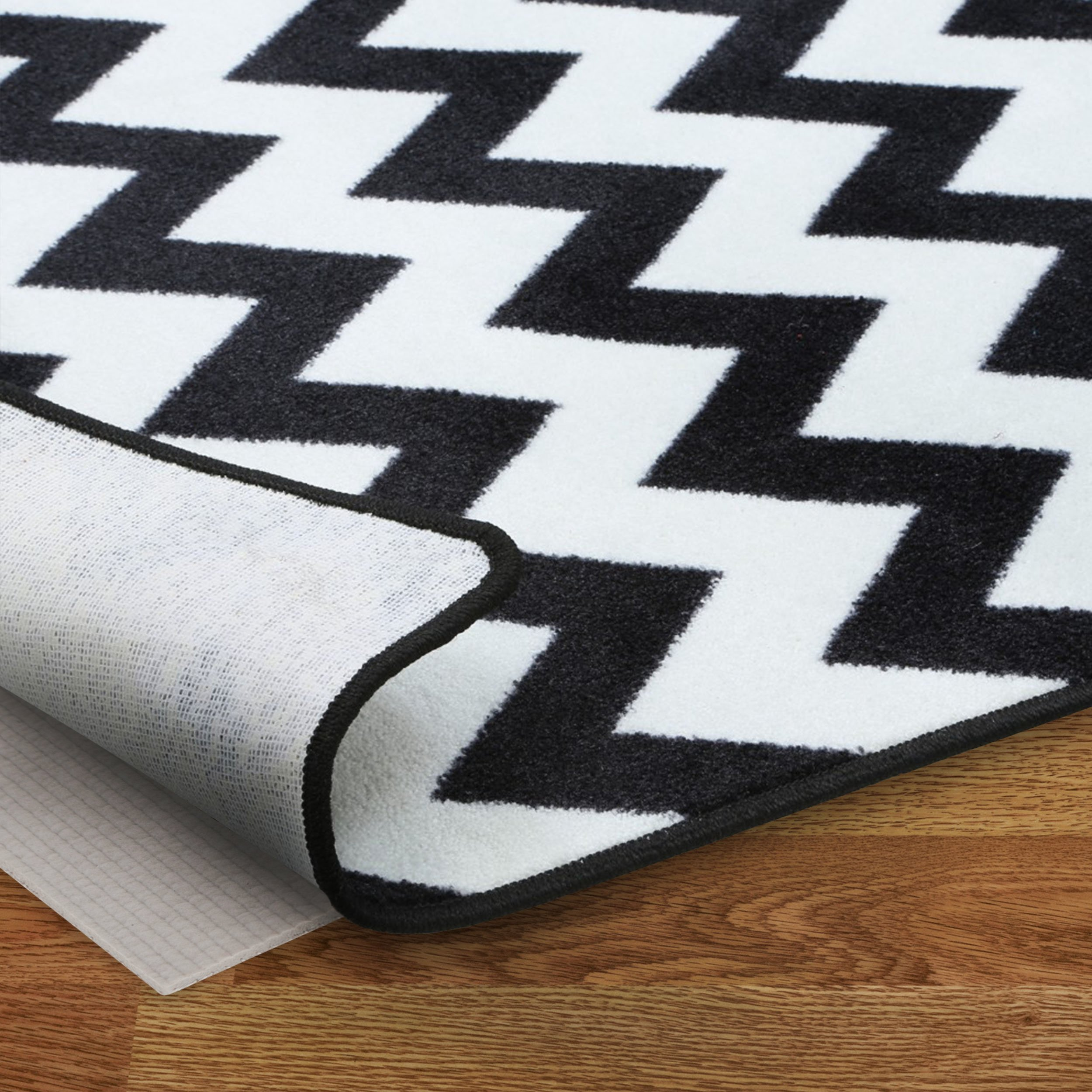 Non-Slip Rug Pad for Hardwood Floors - Textured Design Helps Prevent Slips and Protects Your Floor