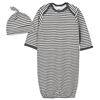 Baby Boys Organic 2-piece Gown and Cap Set