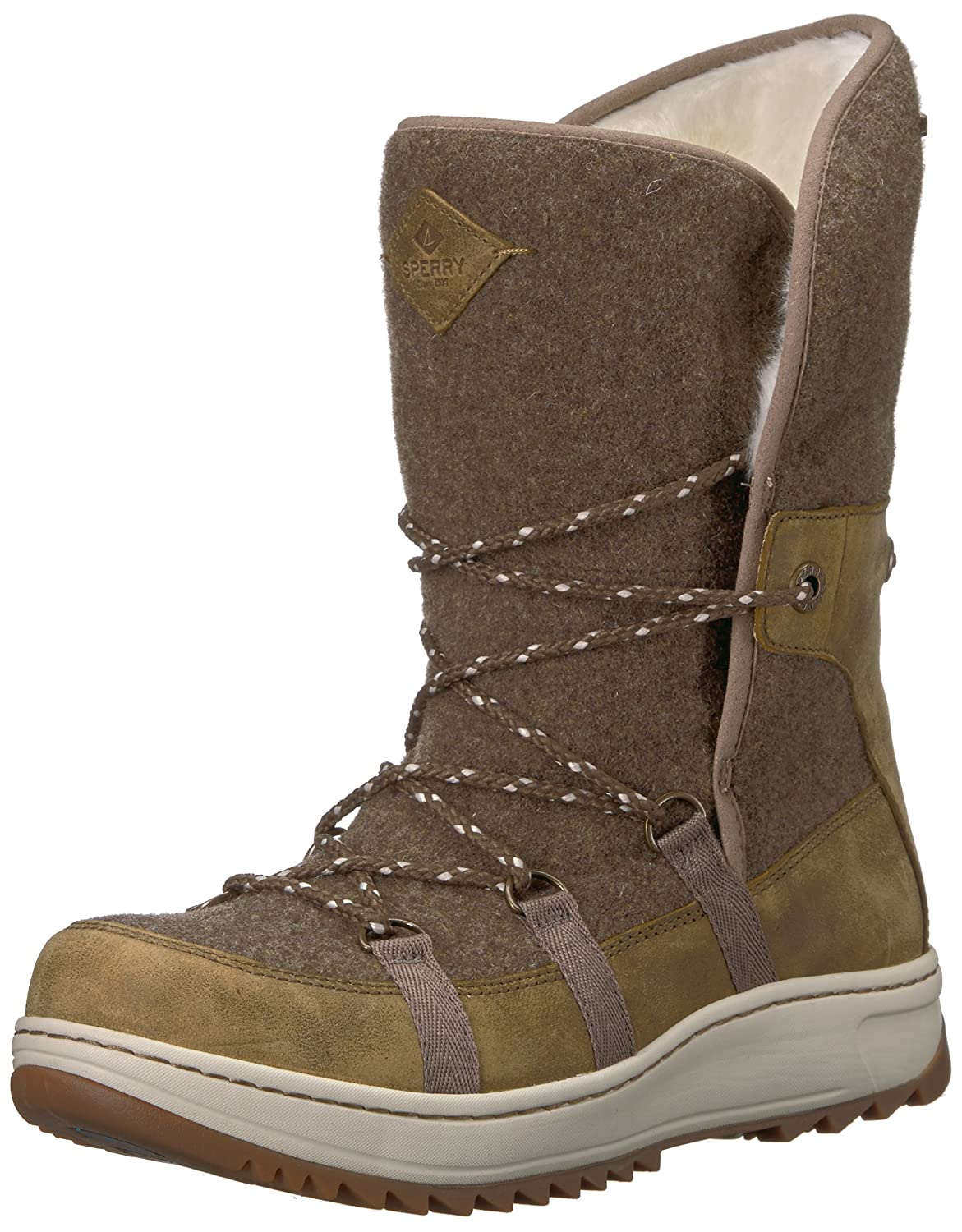 Olive Sperry Womens Powder Ice Cap Mid Calf Boots
