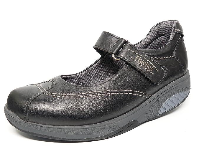 620cc4ce Fluchos Zapatos Cómodos Mujer Tipo Mercedes Cierre Velcro Balancín - 7823  (35, Negro): Amazon.es: Zapatos y complementos