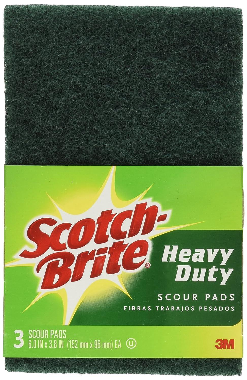 """3M Scotch-Brite 223 Heavy Duty Scour Pad, 6"""" X 3.8"""", 3-Pack"""