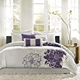 Amazon Com Madison Park Novak 7 Piece Jacquard Comforter