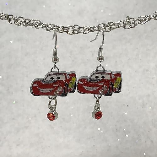 082f06c8be064 Amazon.com: Disney Inspired Lightning McQueen Earrings: Handmade
