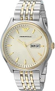 Emporio Armani Mens Zeta Analog-Quartz Watch with Stainless-Steel Strap, Silver,