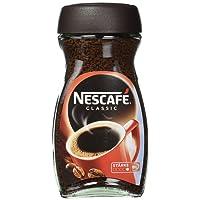 Nescafé Classic, löslicher Bohnenkaffee, mitteldunkel geröstete Kaffeebohnen, koffeinhaltig, kräftiger Geschmack & intensives Aroma, Menge: 1 x 200 g
