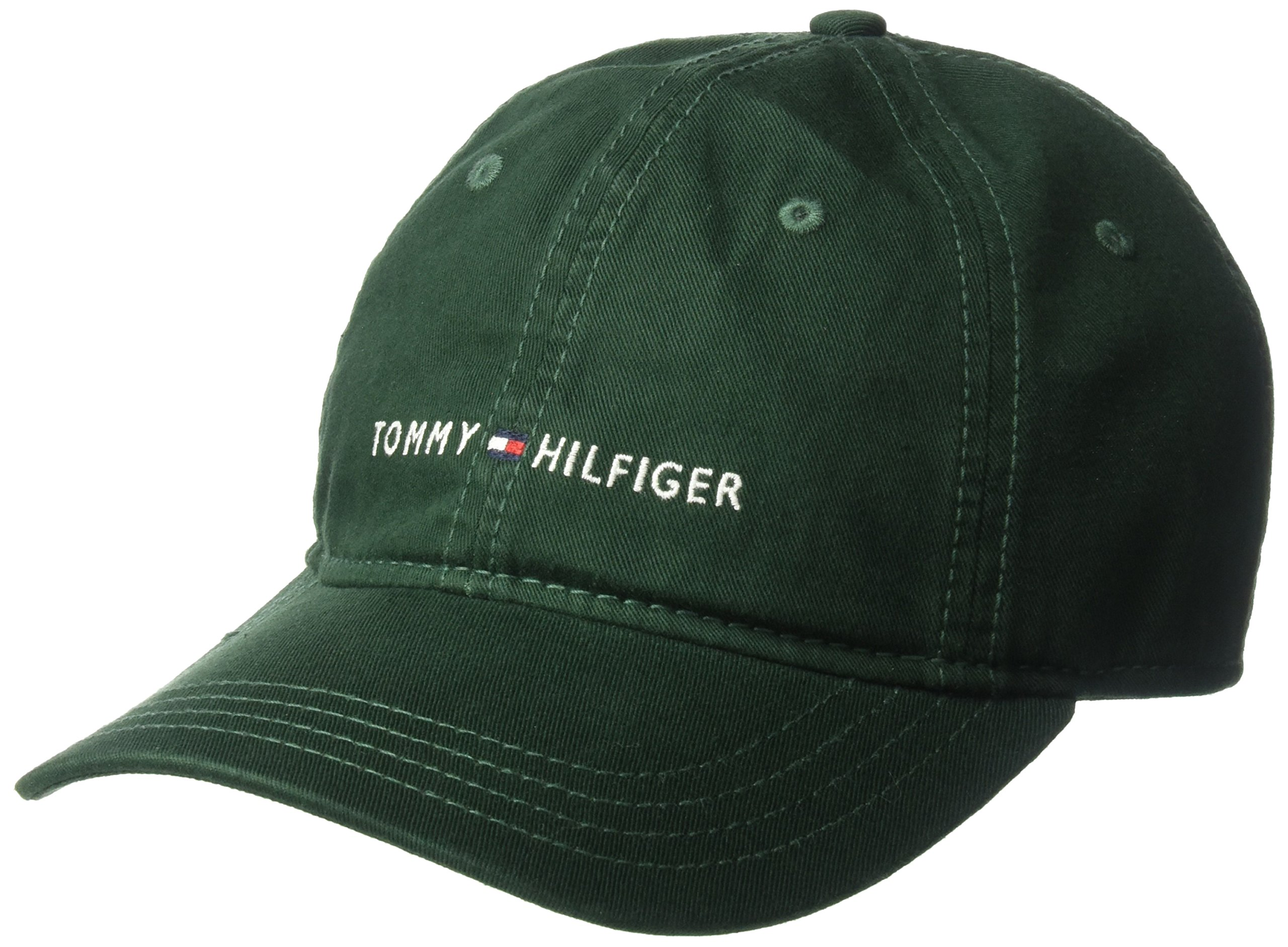 Tommy Hilfiger Men's Logo Dad Baseball Cap, Pine Grove, One Size by Tommy Hilfiger