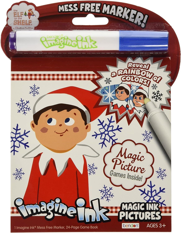 - Amazon.com: Bendon Elf Of The Shelf Magic Ink Coloring Book: Toys