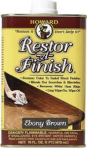 Howard Products RF8016 Restor-A-Finish, 16 oz, Ebony Brown