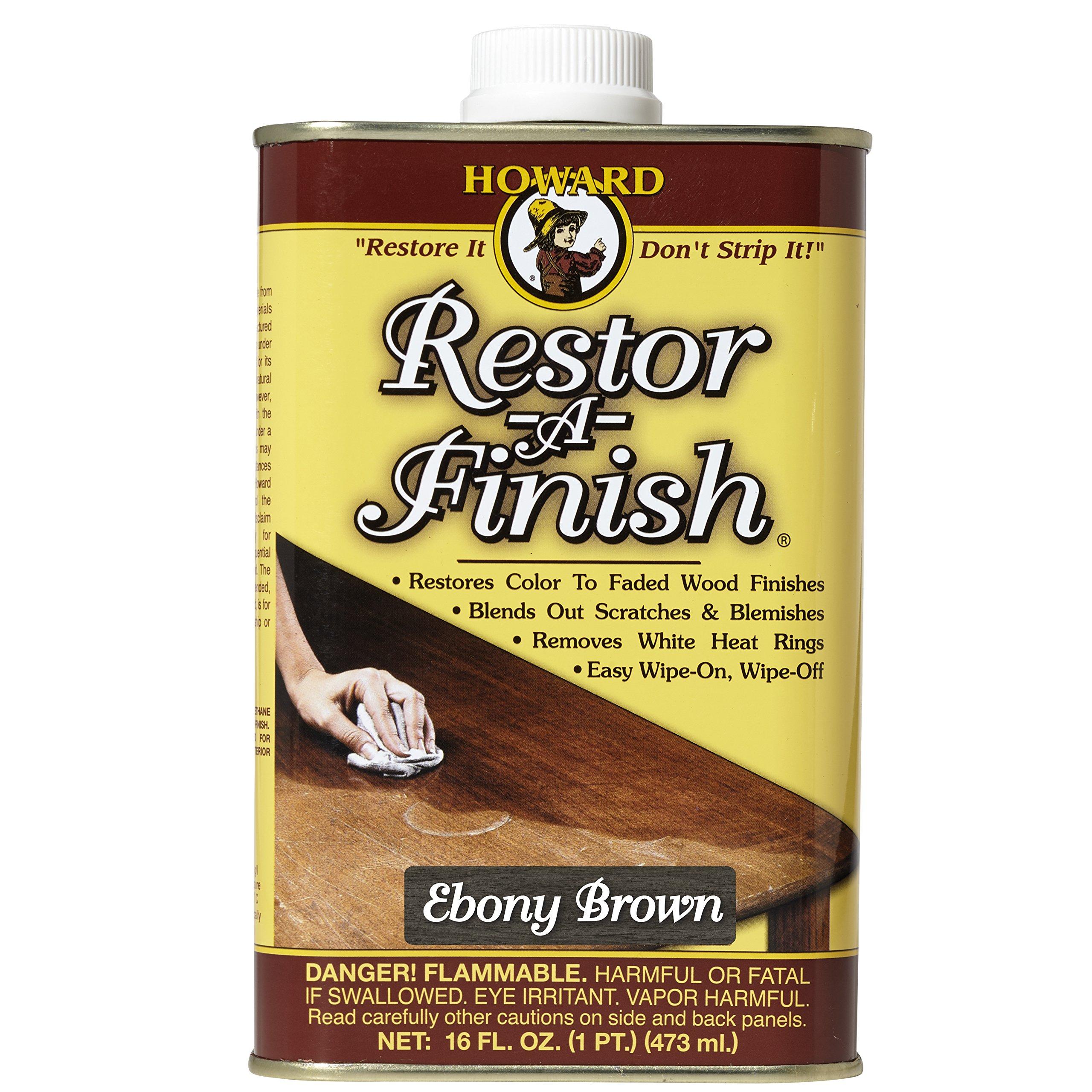 Howard RF8016 Restor-A-Finish, 16-Ounce, Ebony Brown