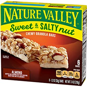 Nature Valley Granola Bars, Sweet and Salty Nut, Almond, 6 ct, 7.4 oz